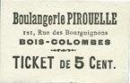 FRANZÖSISCHE NOTSCHEINE Bois-Colombes (92). Boulangerie Pirouelle. Bi... 120,00 EUR  zzgl. 7,00 EUR Versand