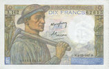 4.12.1947 BANKNOTEN DER BANQUE DE FRANCE Banque de France. Billet. 10 ... 18,00 EUR  zzgl. 7,00 EUR Versand