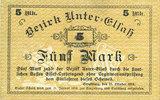 1918-10-25 FRANZÖSISCHE NOTSCHEINE Bas-Rhin (67). Bezirk Unter-Elsass.... 22,00 EUR  zzgl. 7,00 EUR Versand