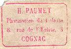 FRANZÖSISCHE NOTSCHEINE Cognac (16). Pharmacie de 1ère classe - H. PA... 50,00 EUR  zzgl. 7,00 EUR Versand