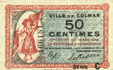 1918-12-15 FRANZÖSISCHE NOTSCHEINE Colmar (68). Ville. Billet. 50 cent... 17,00 EUR  zzgl. 7,00 EUR Versand