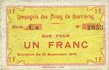 15.9.1914 FRANZÖSISCHE NOTSCHEINE Courrières (62). Compagnie des Mines... 12,00 EUR  zzgl. 7,00 EUR Versand