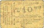 11.9.1915 FRANZÖSISCHE NOTSCHEINE Denain (59). Ville. Billet. 10 centi... 20,00 EUR  zzgl. 7,00 EUR Versand