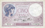 5.10.1939 BANKNOTEN DER BANQUE DE FRANCE Banque de France. Billet. 5 f... 15,00 EUR  zzgl. 7,00 EUR Versand