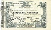 1915-10-24 FRANZÖSISCHE NOTSCHEINE Fourmies (59). Bon Régional des Dép... 20,00 EUR  zzgl. 7,00 EUR Versand
