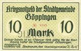 1918 DEUTSCHLAND - NOTGELDSCHEINE (1914-1923) A - J Göppingen. Stadt. ... 250,00 EUR  zzgl. 7,00 EUR Versand