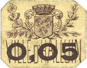 FRANZÖSISCHE NOTSCHEINE Halluin (59). Ville. Billet. 5 centimes ss  10,00 EUR  zzgl. 7,00 EUR Versand
