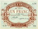 12.3.1915 FRANZÖSISCHE NOTSCHEINE Lille (59). Banque d'Emission. Bille... 10,00 EUR  zzgl. 7,00 EUR Versand