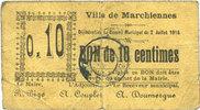 2.7.1915 FRANZÖSISCHE NOTSCHEINE Marchiennes (59). Ville. Billet. 10 c... 17,00 EUR  zzgl. 7,00 EUR Versand