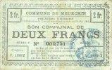 10.5.1915 FRANZÖSISCHE NOTSCHEINE Meurchin (62). Commune. Billet. 2 fr... 18,00 EUR  zzgl. 7,00 EUR Versand