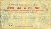 16.7.1915 FRANZÖSISCHE NOTSCHEINE Mézières-sur-Oise (02). Commune. Bil... 5,00 EUR  zzgl. 7,00 EUR Versand