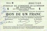 7.7.1916 FRANZÖSISCHE NOTSCHEINE Montmédy (55). Syndicat de Communes d... 6,00 EUR  zzgl. 7,00 EUR Versand
