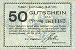 20.7.1917 DEUTSCHLAND - NOTGELDSCHEINE (1914-1923) K -Z Limburg a. d. ... 8,00 EUR  zzgl. 7,00 EUR Versand