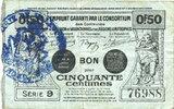 FRANZÖSISCHE NOTSCHEINE Valenciennes (59). Emprunt Consortium. Billet... 6,00 EUR  zzgl. 7,00 EUR Versand