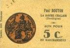 FRANZÖSISCHE NOTSCHEINE La Roche-Chalais (24). Paul Bouton 'sou de La... 150,00 EUR  zzgl. 8,00 EUR Versand