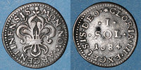 FRENCH ROYAL COINS  1643-1715 Petit coup à l'avers sinon TTB Louis XIV (... 250,00 EUR