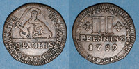 GERMANY before 1870  Munster. Monnayage de la Cathédrale. 3 pfennig 1759