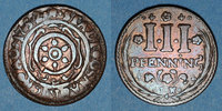 GERMANY before 1870  Osnabruck. Ville. 3 pfennig 1752IW