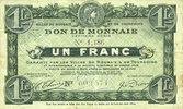 20.4.1916 FRANZÖSISCHE NOTSCHEINE Roubaix et Tourcoing (59). Billet. 1... 4,00 EUR  zzgl. 7,00 EUR Versand