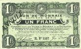 20.4.1916 FRANZÖSISCHE NOTSCHEINE Roubaix et Tourcoing (59). Billet. 1... 50,00 EUR  zzgl. 7,00 EUR Versand
