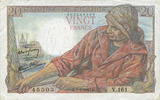 NOTES OF THE BANQUE DE FRANCE 20 francs  ss+ Banque de France. Billet. 2... 10,00 EUR