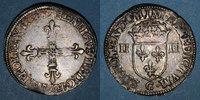 1587 C FRANZÖSISCHE KÖNIGLICHE MÜNZEN Henri III (1574-1589). 1/4 d'écu... 180,00 EUR  zzgl. 8,00 EUR Versand
