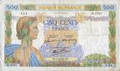2.10.1941 BANKNOTEN DER BANQUE DE FRANCE Banque de France. Billet. 500... 18,00 EUR  zzgl. 7,00 EUR Versand