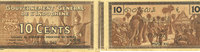 1939 EHEMALIGE FRANZÖSISCHE KOLONIEN Indochine. Billet. 10 cents (1939... 8,00 EUR  zzgl. 7,00 EUR Versand