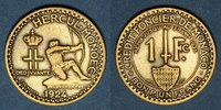 1924 EUROPA Monaco. Louis II (1922-1949). 1 franc 1924. Poissy ss  15,00 EUR  zzgl. 7,00 EUR Versand