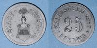 1917 GERMANY after 1870 Münster i Westf. Ville. 25 pfennig 1917 ss+  5,00 EUR  plus 7,00 EUR verzending