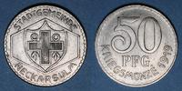 1919 GERMANY after 1870 Neckarsulm. Stadtgemeinde. 50 pfennig 1919 vz  20,00 EUR  plus 7,00 EUR verzending