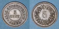 EUROPA Suisse. Ville de Bâle.Suisse. Allgemeine Consumverein. 5 cent ... 25,00 EUR  zzgl. 7,00 EUR Versand