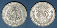 1943 WELTMÜNZEN H bis P Mexique. 2e République. 50 centavos 1943 ss+  7,00 EUR  zzgl. 7,00 EUR Versand