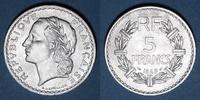 1949 FRANZÖSISCHE MODERNE MÜNZEN 4e république (1947-1959). 5 francs L... 10,00 EUR  zzgl. 7,00 EUR Versand