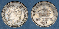 1867 A FRANZÖSISCHE MODERNE MÜNZEN 2e empire (1852-1870). 20 centimes,... 9,00 EUR  zzgl. 7,00 EUR Versand