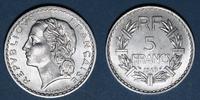 1949 FRANZÖSISCHE MODERNE MÜNZEN 4e république (1947-1959). 5 francs L... 6,00 EUR  zzgl. 7,00 EUR Versand
