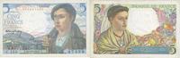1947-10-30 BANKNOTEN DER BANQUE DE FRANCE Banque de France. Billet. 5 ... 22,00 EUR  zzgl. 7,00 EUR Versand
