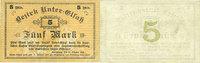 1918-10-25 FRANZÖSISCHE NOTSCHEINE Bas-Rhin (67). Bezirk Unter-Elsass.... 18,00 EUR  zzgl. 8,00 EUR Versand