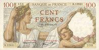 11.7.1940 BANKNOTEN DER BANQUE DE FRANCE Banque de France. Billet. 100... 45,00 EUR  zzgl. 7,00 EUR Versand
