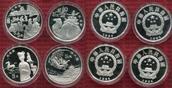 China Volksrepublik PRC 4 x 5 Yuan Silberm...