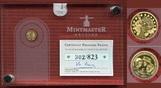 5 Euro Mini-Goldmünze 2013 Frankreich 50 Jahre Élysée Vertrag, Mintmaster Edition - In aufwendiger Verpackung Polierte Platte mit Box, Karton und Zertifikat