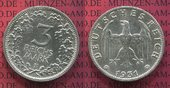 3 Mark Kursmünze Silber 1931 F Weimarer Re...
