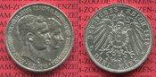 3 Mark Silbermünze 1915 Braunschweig ohne ...