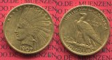 USA 10 Dollars Eagle Indian Head 1907 ss+ ...
