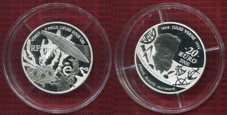 Frankreich France 20 Euro Silbermünze 2005...