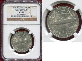 3 Mark Weimarer Republik Silber 1930 Weima...