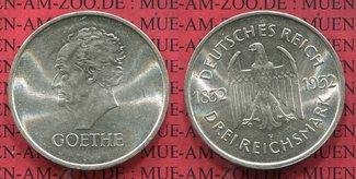 3 Mark Silber Gedenkmünze 1932 F Weimarer ...
