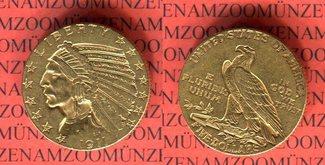 5 Dollar Goldmünze 1911 USA Indianerkopf H...