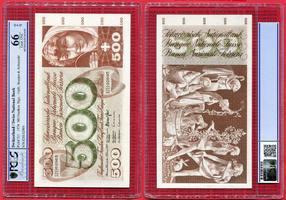500 Franken 1974 Schweiz, Switzerland Jung...