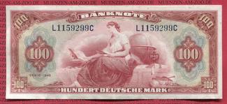 100 DM  Deutsche Mark Kopfgeld 1948 Bundes...